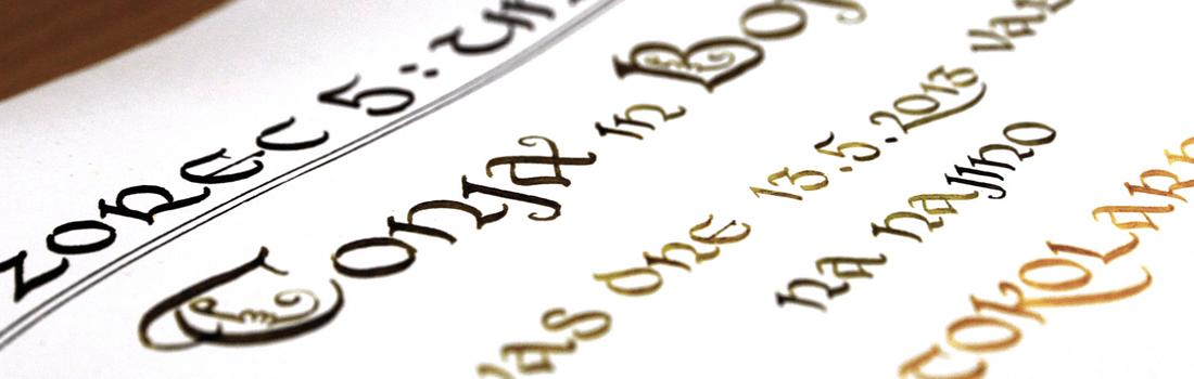 Zgodovinski razvoj različnih stilov pisav